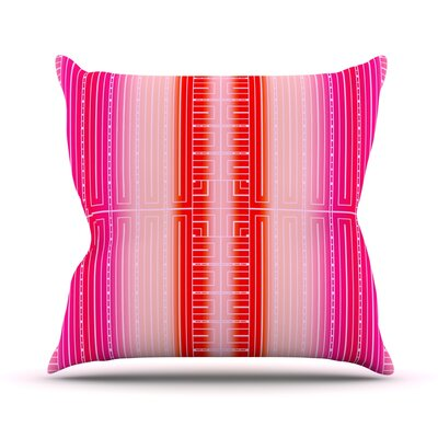 Throw Pillow Size: 16 H x 16 W, Color: Deco City Blush