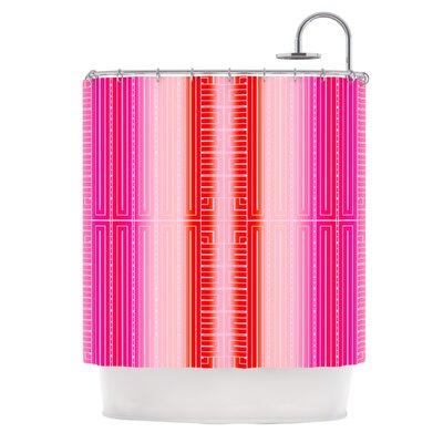 Shower Curtain Color: Deco City Blush