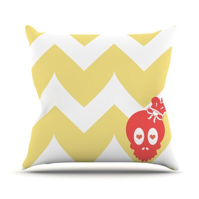 Skull II by Nick Atkinson Chevron Throw Pillow Size: 16 H x 16 W x 3 D