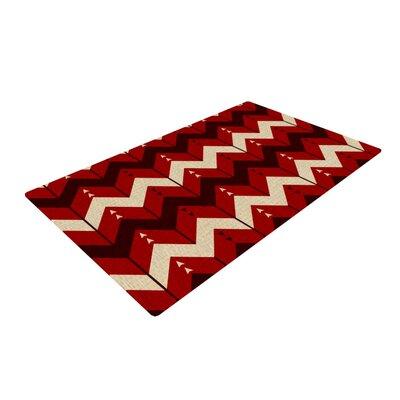 Nick Atkinson Chevron Dance Red Area Rug Rug Size: 2 x 3