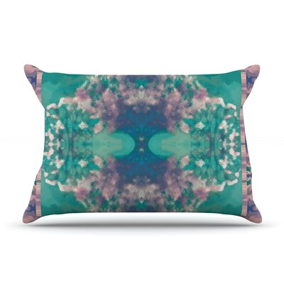 Ashby Blossom Teal Pillow Case Size: King