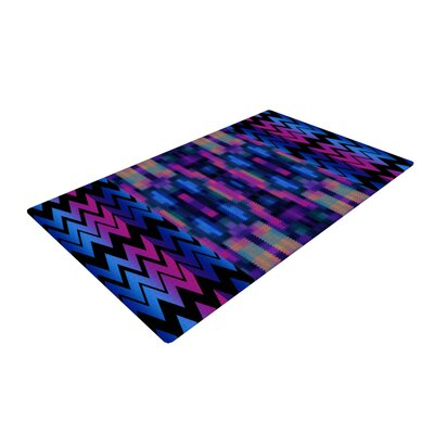Nina May Skya Blue/Pink Area Rug Rug Size: 4 x 6