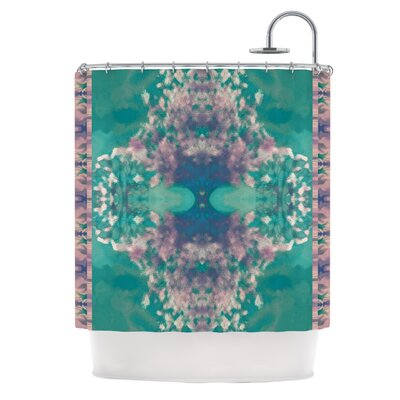 Ashby Blossom Teal Shower Curtain