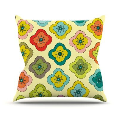 Forest Bloom Throw Pillow Size: 18 H x 18 W