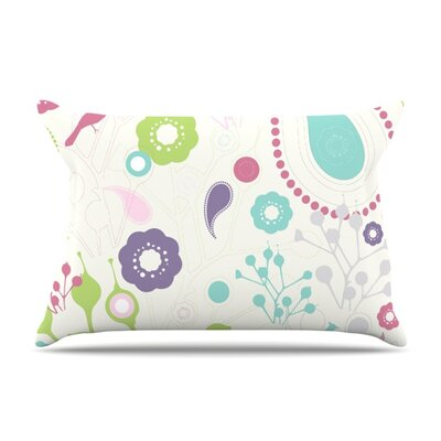 Bird Song by Nicole Ketchum Featherweight Pillow Sham Size: King, Fabric: Woven Polyester