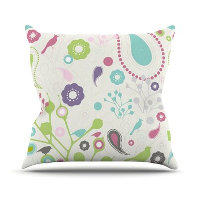 Bird Song Throw Pillow Size: 18 H x 18 W