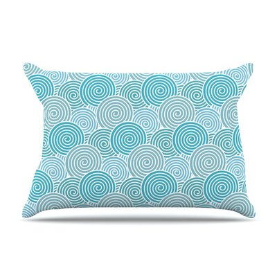 Ocean Swirl by Nick Atkinson Featherweight Pillow Sham Size: King, Fabric: Woven Polyester