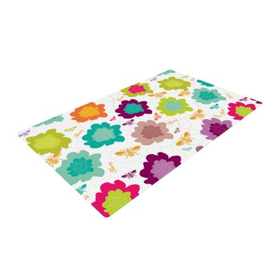 Nicole Ketchum Bee Highway Green/Purple Area Rug Rug Size: 4 x 6