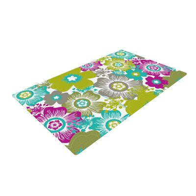 Nicole Ketchum Little Bloom Green/Pink Area Rug Rug Size: 2 x 3