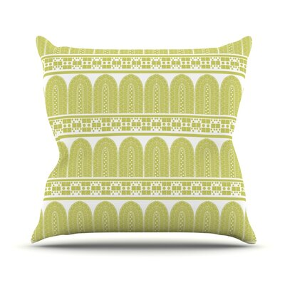 Tribal by Nandita Singh Throw Pillow Size: 26 H x 26 W x 5 D