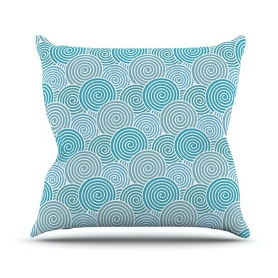 Ocean Swirl by Nick Atkinson Throw Pillow Size: 20 H x 20 W x 4 D