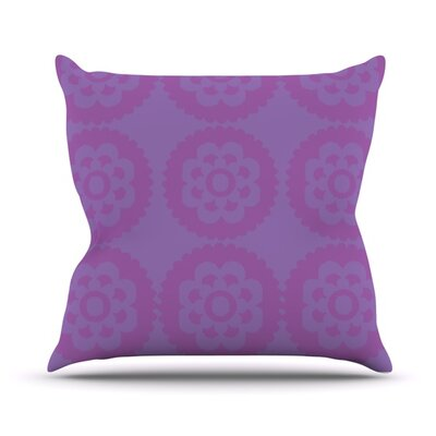 Moroccan Throw Pillow Color: Lilac, Size: 18 H x 18 W