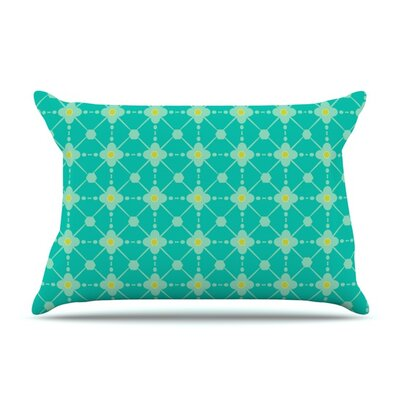 Hive Blooms by Nicole Ketchum Featherweight Pillow Sham Size: Queen, Fabric: Woven Polyester