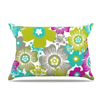 Little Bloom by Nicole Ketchum Featherweight Pillow Sham Size: King, Fabric: Woven Polyester