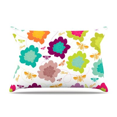 Bee Highway by Nicole Ketchum Featherweight Pillow Sham Size: King, Fabric: Woven Polyester
