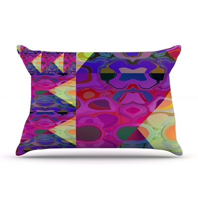 Alligator Patch by Nina May Featherweight Pillow Sham Size: King, Fabric: Woven Polyester