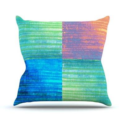 C BatikThrow Pillow Size: 18 H x 18 W