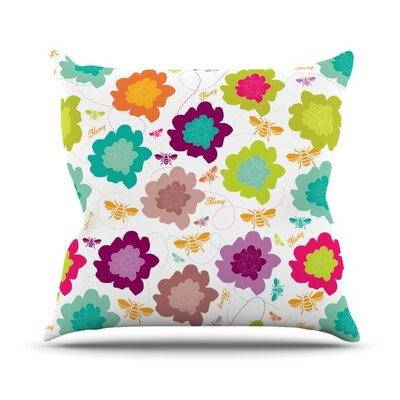 Bee Highway Throw Pillow Size: 18