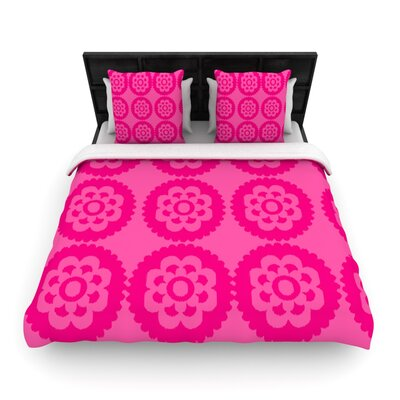 Moroccan Woven Comforter Duvet Cover Color: Hot Pink, Size: Full/Queen