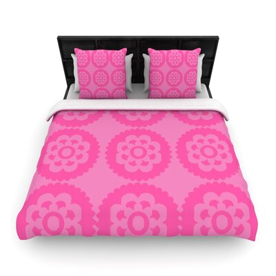 Moroccan Woven Comforter Duvet Cover Size: Full/Queen, Color: Pink