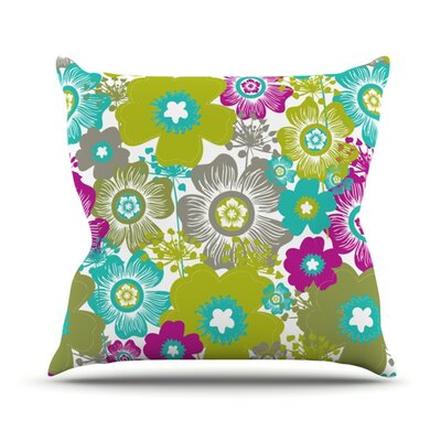 Little Bloom Throw Pillow Size: 18 H x 18 W