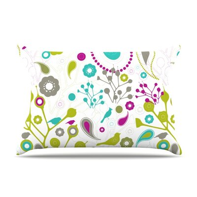 Bird Fantasy by Nicole Ketchum Featherweight Pillow Sham Size: Queen, Fabric: Woven Polyester
