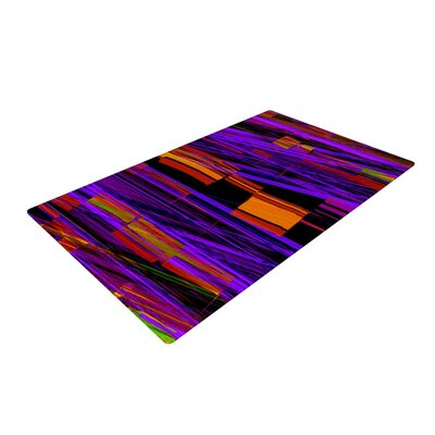 Nina May Threads Purple Area Rug Rug Size: 4 x 6
