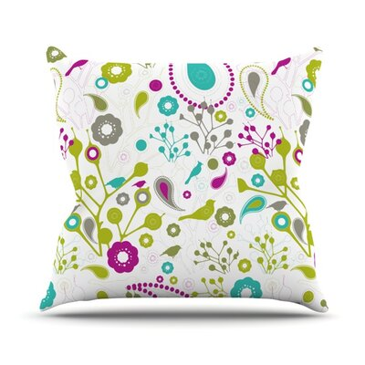 Bird Fantasy Throw Pillow Size: 18 H x 18 W