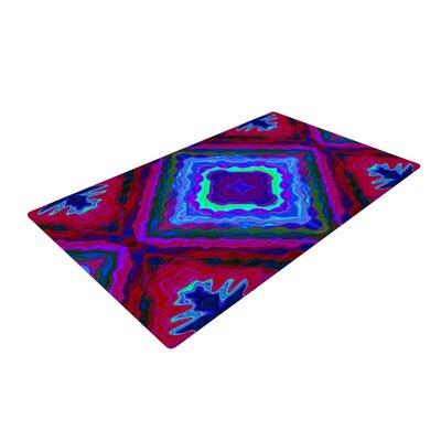 Nina May Kilim Red/Blue Area Rug Rug Size: 2 x 3