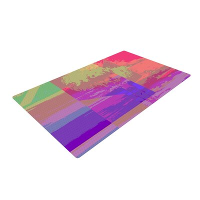 Nina May Impermiate Poster Purple/Pink Area Rug Rug Size: 4 x 6