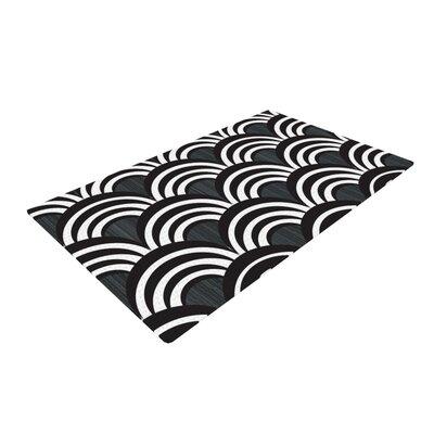 Art Deco Black Area Rug Rug Size: 4 x 6