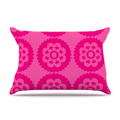 Moroccan Hot Pink by Nicole Ketchum Featherweight Pillow Sham Size: King, Fabric: Woven Polyester