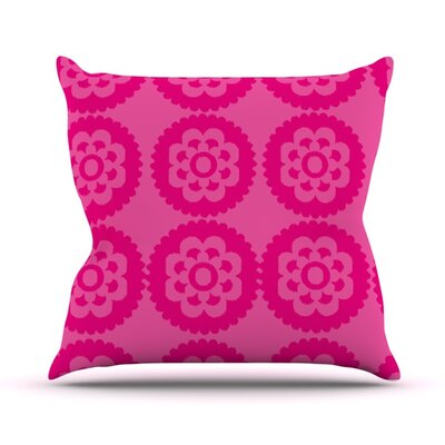 Moroccan Throw Pillow Size: 16 H x 16 W, Color: Hot Pink