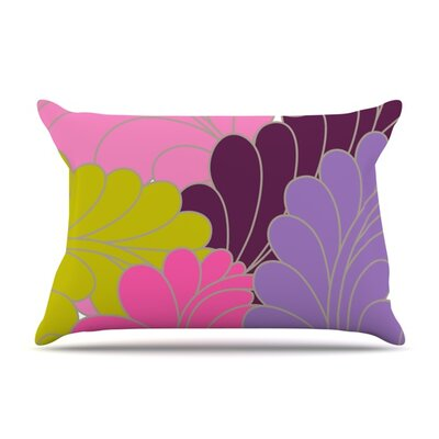 Moroccan Leaves by Nicole Ketchum Featherweight Pillow Sham Size: King, Fabric: Woven Polyester