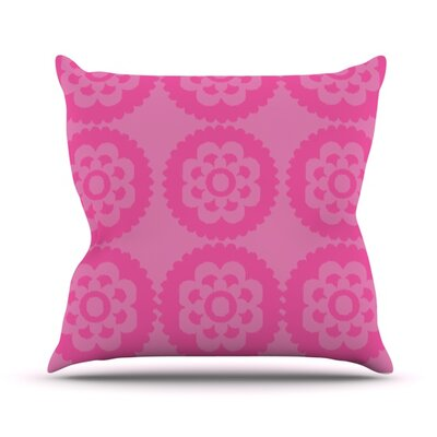 Moroccan Throw Pillow Size: 18 H x 18 W, Color: Pink