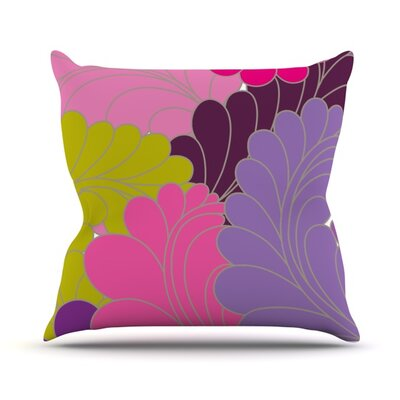 Moroccan Leaves Throw Pillow Size: 18 H x 18 W