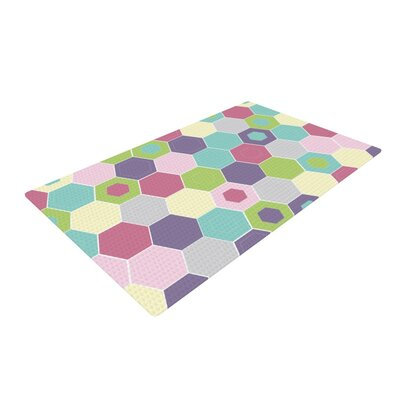 Nicole Ketchum Pale Bee Hex Purple/Blue Area Rug Rug Size: 2 x 3