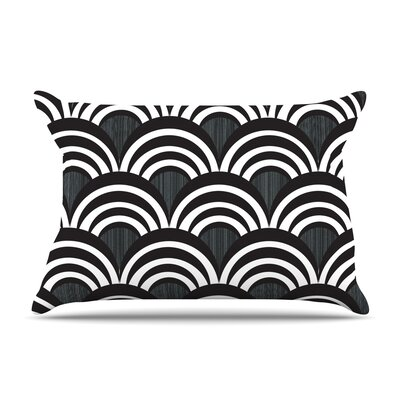 Art Deco Pillow Case Size: King, Color: Black