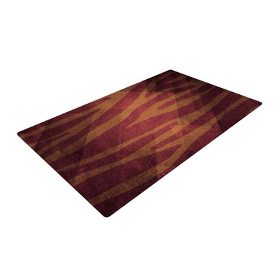 Nick Atkinson Zebra Texture Red/Brown Area Rug Rug Size: 2 x 3