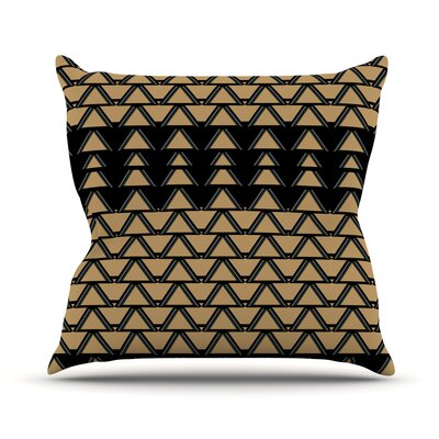 Deco Angles Throw Pillow Size: 18 H x 18 W