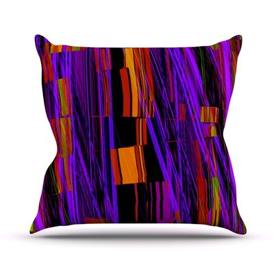 Threads Throw Pillow Size: 16 H x 16 W
