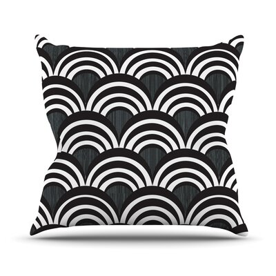 Art Deco Outdoor Throw Pillow Size: 16 H x 16 W x 3 D