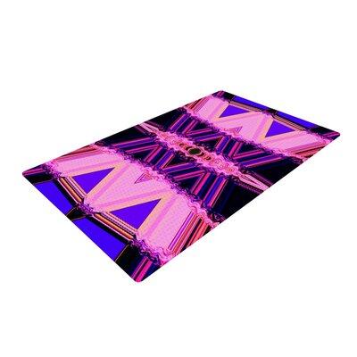 Nina May Decorama Pink/Black Area Rug Rug Size: 2 x 3