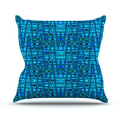 Variblue Throw Pillow Size: 16 H x 16 W