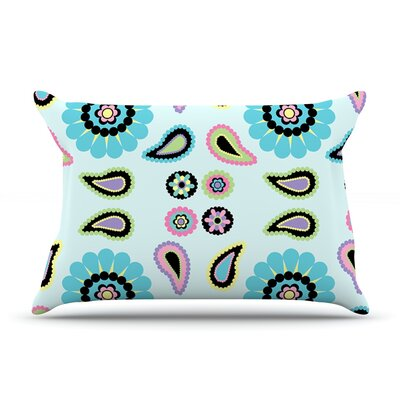 Paisley Candy Pillow Case Size: Standard