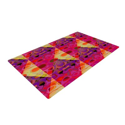 Nina May Allicamohot Purple/Yellow Area Rug Rug Size: 2 x 3