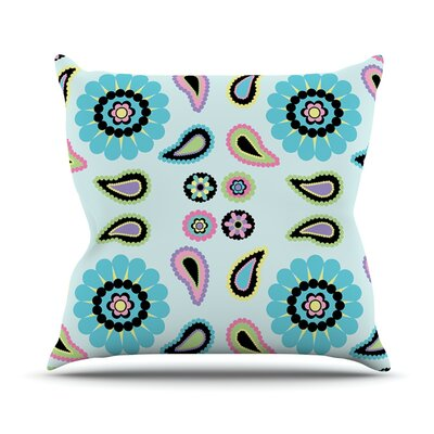 Paisley Candy Throw Pillow Size: 26 H x 26 W