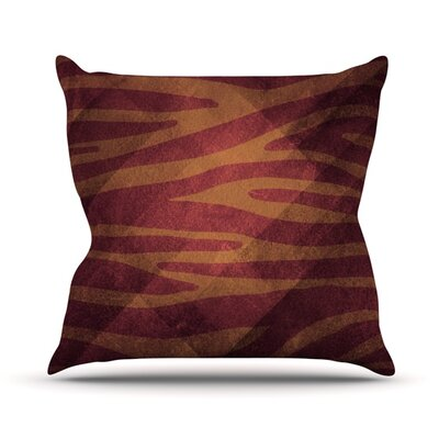 Zebra Texture Throw Pillow Size: 18 H x 18 W, Color: Pink