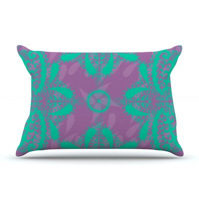 Motifs by Nandita Singh Pillow Sham Size: Queen, Color: Green/Purple, Fabric: Woven Polyester