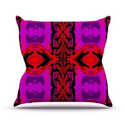 Ornamena Throw Pillow Size: 16
